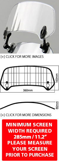 MRA X-Creen XCTA Add-On Adjustable Spoiler & Hinges Assembly