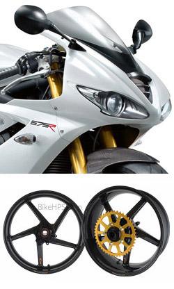 Bst Carbon Fibre Wheels For Triumph 675 675r Daytona 2005 Onwards