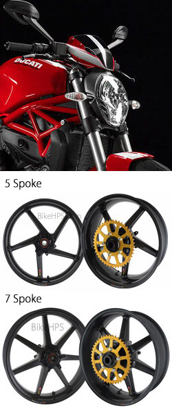 Bst Carbon Fibre Wheels For Ducati 821 Monster 2014 Onwards