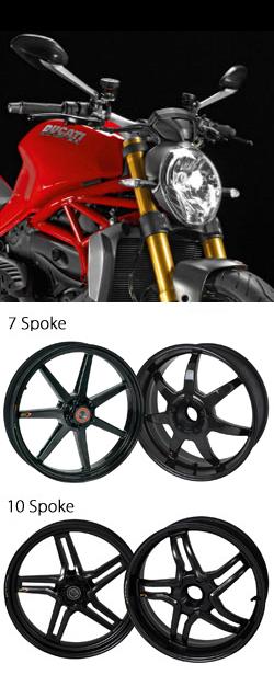 Bst Carbon Fibre Wheels For Ducati Monster 1200