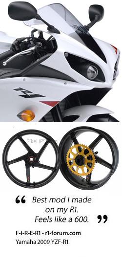 BST Carbon Fibre 5 Spoke Wheels for Yamaha YZF-R1 2009-2014 - Road & Race