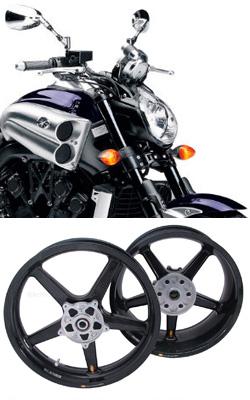 BST Carbon Fibre 5 Spoke Wheels For Yamaha VMX1700 V MAX 2009 Onwards