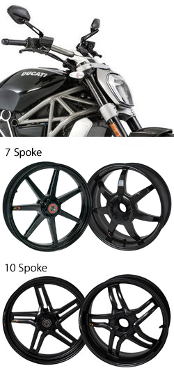 BST Carbon Fibre Wheels for Ducati XDiavel