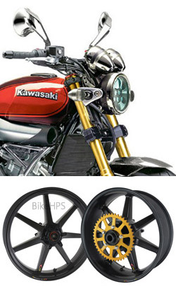 BST Carbon Fibre 7 Spoke Wheels For Kawasaki Z900RS Cafe 2018 Onwards