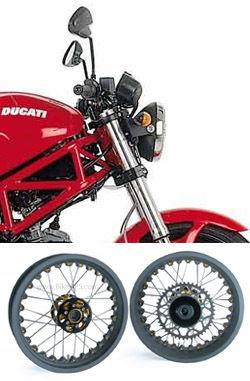 kineo wire spoked wheels ducati 695 monster 2007-2008
