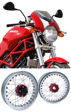 wire spoked wheels for ducati 1000 monster s2r 2005-2007