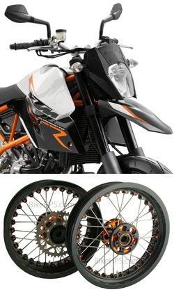 kineo wire spoked wheels ktm 950 990 supermoto r 2005 2014 rh bikehps com KTM 950 SM 2007 KTM 990 Super Duke