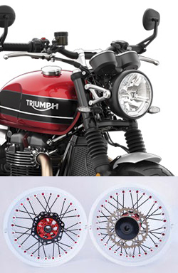 Kineo Wire Spoked Wheels for Triumph 1200 Bonneville Speed