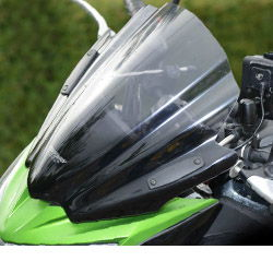Kawasaki Z800 Mra Motorcycle Double Bubble Racing Screens