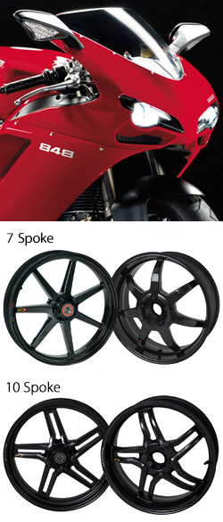 Bst Carbon Fibre Wheels For Ducati 848 All Years