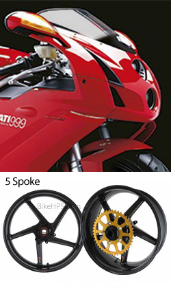 Bst Carbon Fibre Wheels For Ducati 999 2003 2006