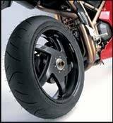 bst rear motorcycle wheel