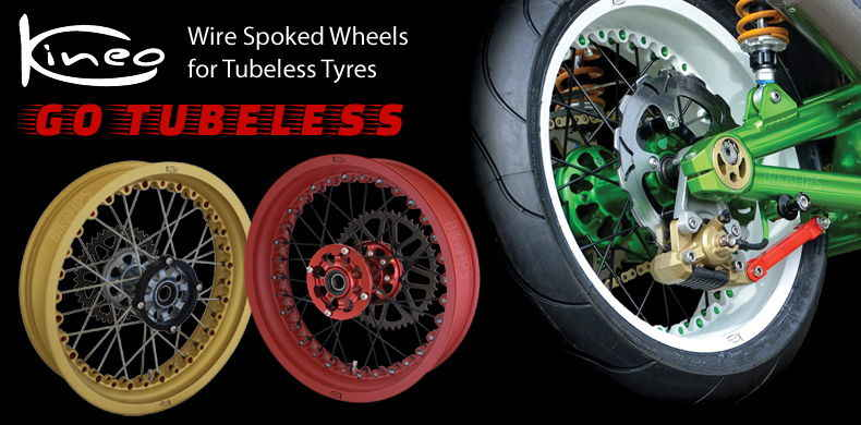 Kineo Wire Spoked Tubeless Wheels
