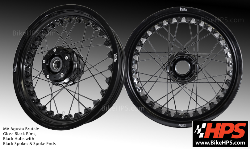 Kineo Wheels MV Agusta Brutale Black Spokes