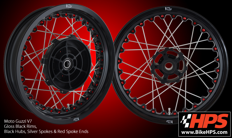 Kineo Spoked Wheels for Moto Guzzi V7 Stone