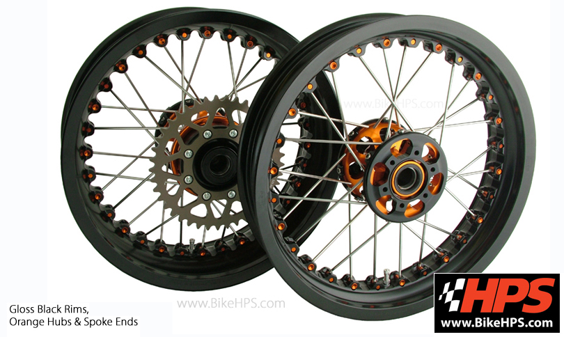 Kineo Wheels Gloss Black & Orange