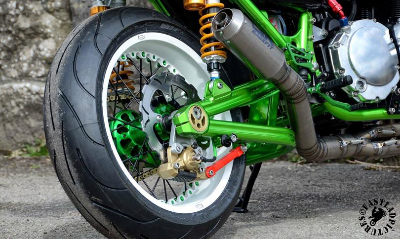 Kawasaki with Kineo Wheels White and Green