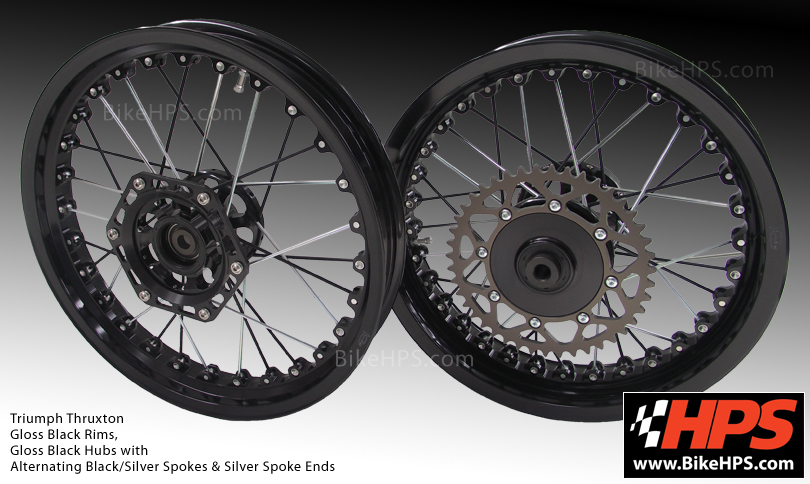 Kineo Spoked Wheels for Triumph Thruxton Black