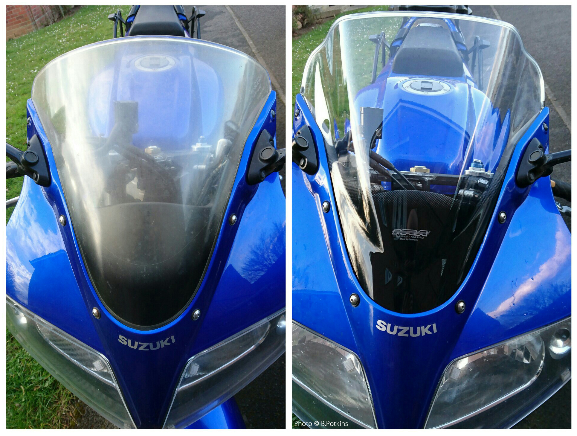 Suzuki SV1000S MRA Double-Bubble Screen